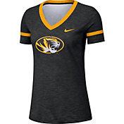Nike Women's Missouri Tigers Slub V-Neck Black T-Shirt