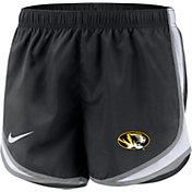 Nike Women's Missouri Tigers Dri-FIT Tempo Black Shorts