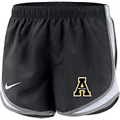 Nike Women's Appalachian State Mountaineers Dri-FIT Tempo Black Shorts
