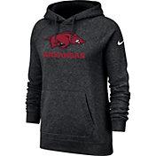 Nike Women's Arkansas Razorbacks Rally Pullover Black Hoodie