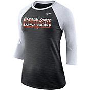 Nike Women's Oregon State Beavers Dri-FIT ¾ Sleeve Black T-Shirt