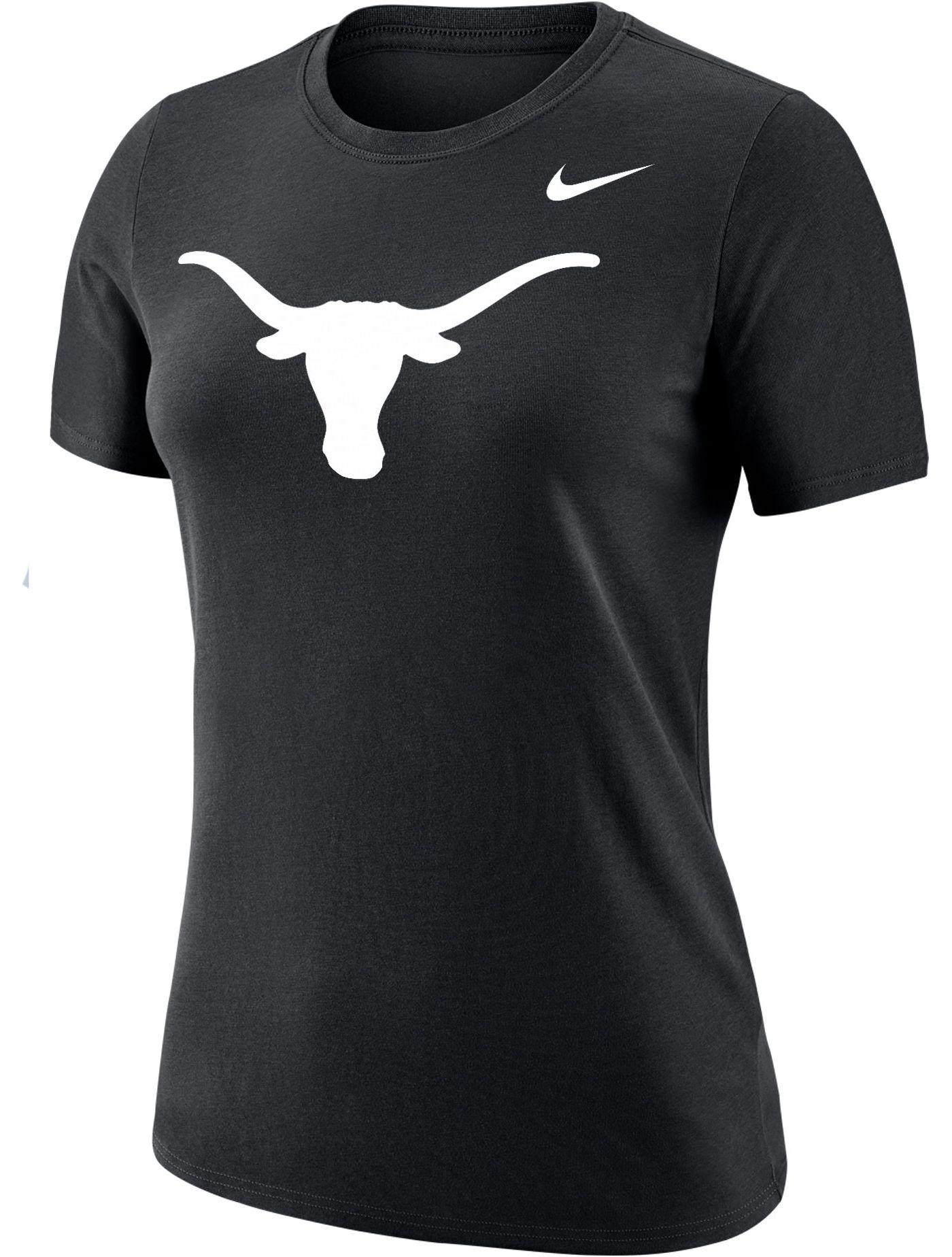 Nike Women's Texas Longhorns Dri-FIT Cotton Logo Black T-Shirt