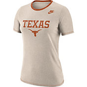 Nike Women's Texas Longhorns Oatmeal Dry Crew Neck T-Shirt
