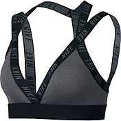 Women's Nike Indy Logo Light Support Sports Bra in Carbon Heather