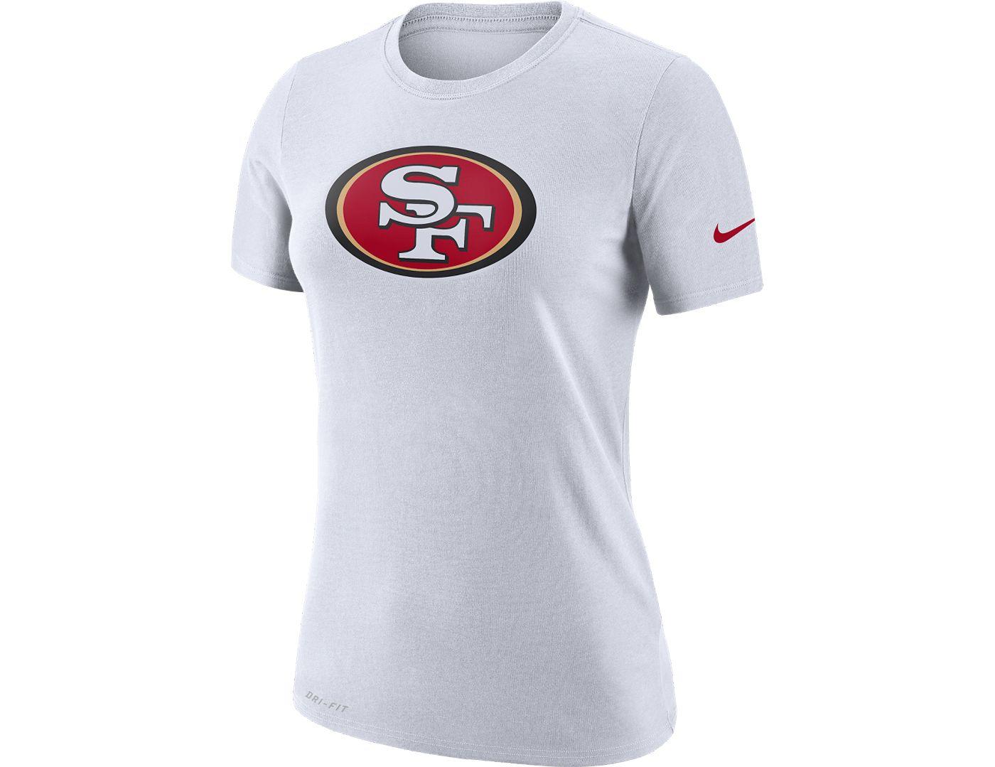 Nike Women's San Francisco 49ers Logo Dri-FIT Performance White T-Shirt