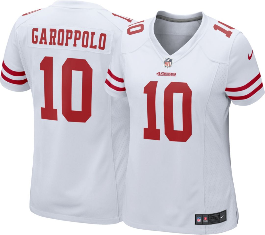 new product b76d9 f1b21 Nike Women's Away Game Jersey San Francisco 49ers Jimmy Garoppolo #10