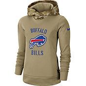 Nike Women's Salute to Service Buffalo Bills Therma-FIT Beige Camo Hoodie