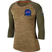 Nike Women's Salute to Service Buffalo Bills Dri-FIT Beige Raglan Shirt