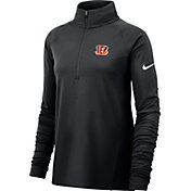 Nike Women's Cincinnati Bengals Core Black Half-Zip Performance Pullover