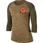Nike Women's Salute to Service Cincinnati Bengals Dri-FIT Beige Raglan Shirt