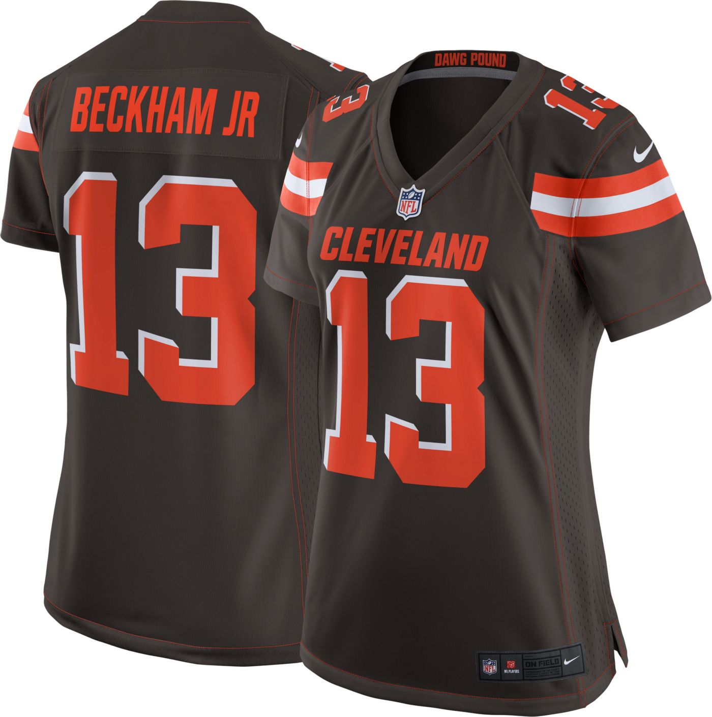 Nike Women's Home Game Jersey Cleveland Browns Odell Beckham Jr. #13