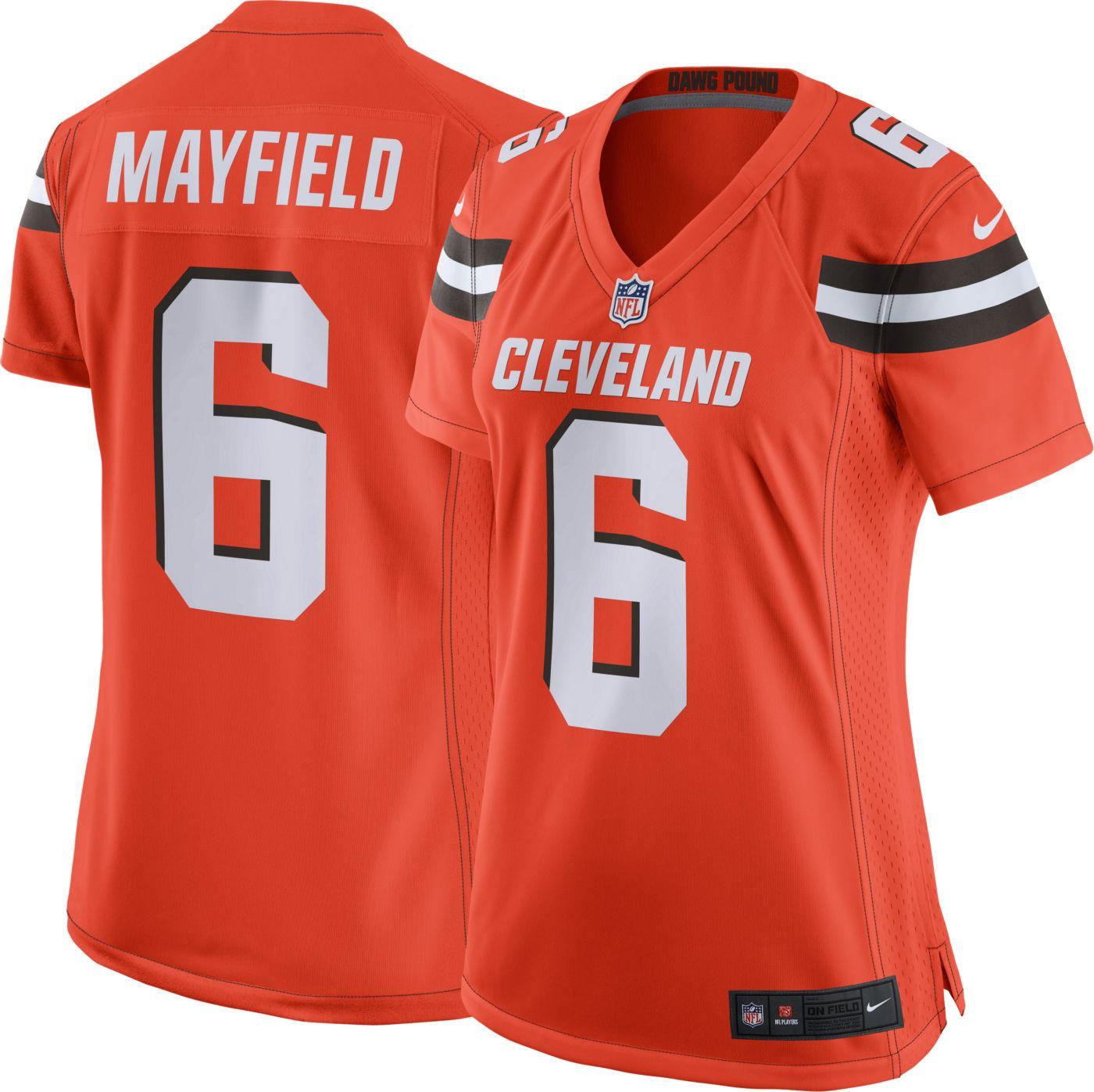 Nike Women's Alternate Game Jersey Cleveland Browns Baker Mayfield #6