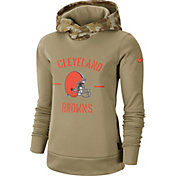Nike Women's Salute to Service Cleveland Browns Therma-FIT Beige Camo Hoodie