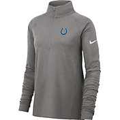 Nike Women's Indianapolis Colts Core Grey Half-Zip Performance Pullover