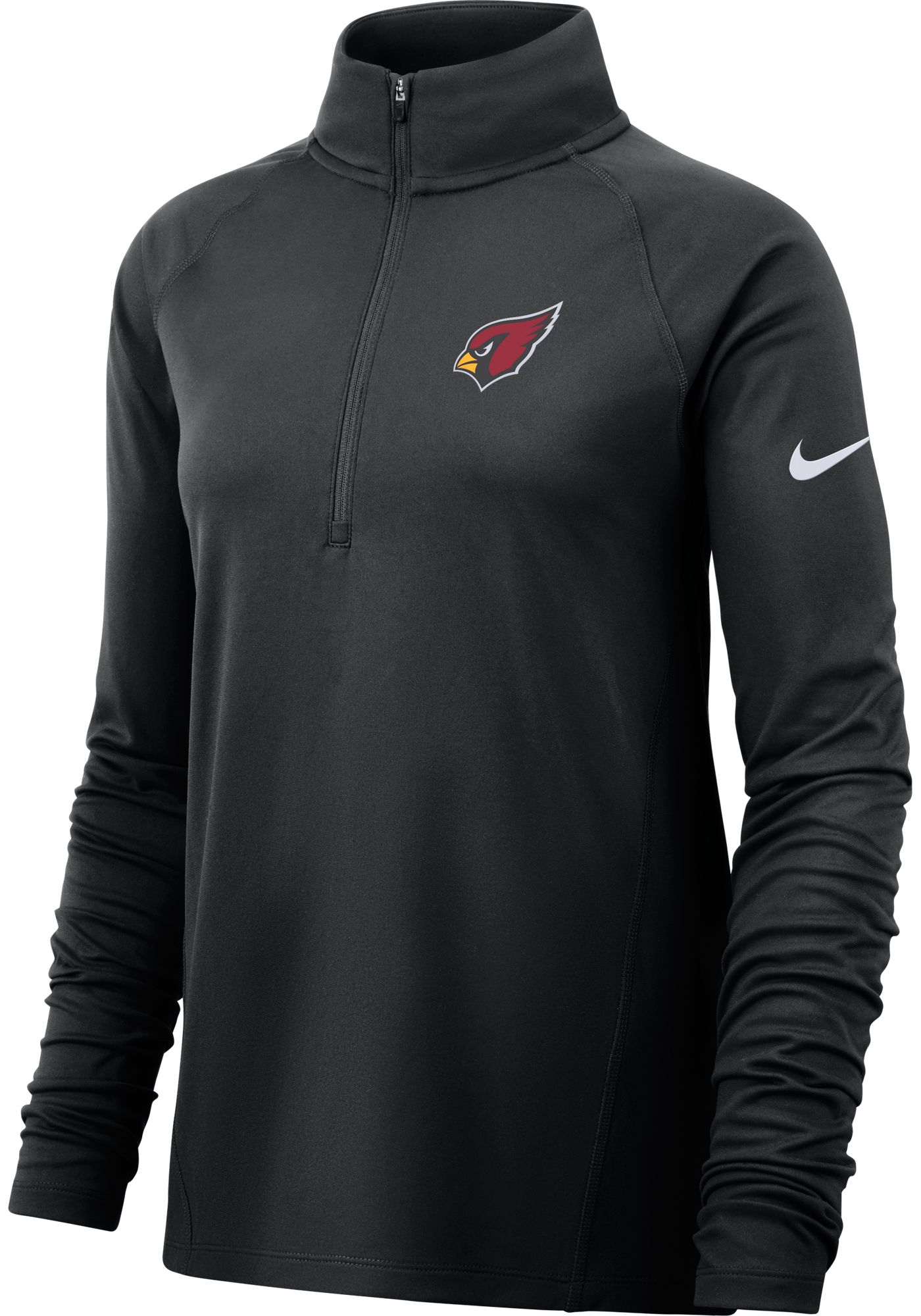 Nike Women's Arizona Cardinals Core Black Half-Zip Performance Pullover