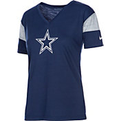 Nike Women's Dallas Cowboys Breathe Navy V-Neck T-Shirt