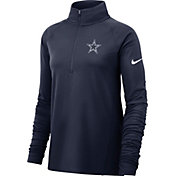 Nike Women's Dallas Cowboys Core Navy Half-Zip Performance Pullover