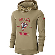Nike Women's Salute to Service Atlanta Falcons Therma-FIT Beige Camo Hoodie