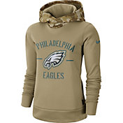 Nike Women's Salute to Service Philadelphia Eagles Therma-FIT Beige Hoodie