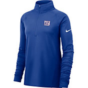Nike Women's New York Giants Core Royal Half-Zip Performance Pullover