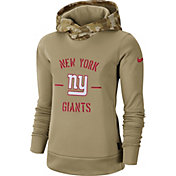 Nike Women's Salute to Service New York Giants Therma-FIT Beige Hoodie