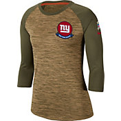 Nike Women's Salute to Service New York Giants Dri-FIT Beige Raglan Shirt