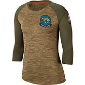 Nike Women's Salute to Service Jacksonville Jaguars Dri-FIT Beige Raglan Shirt