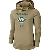 Nike Women's Salute to Service New York Jets Therma-FIT Beige Hoodie