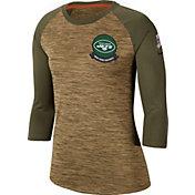 Nike Women's Salute to Service New York Jets Dri-FIT Beige Raglan Shirt