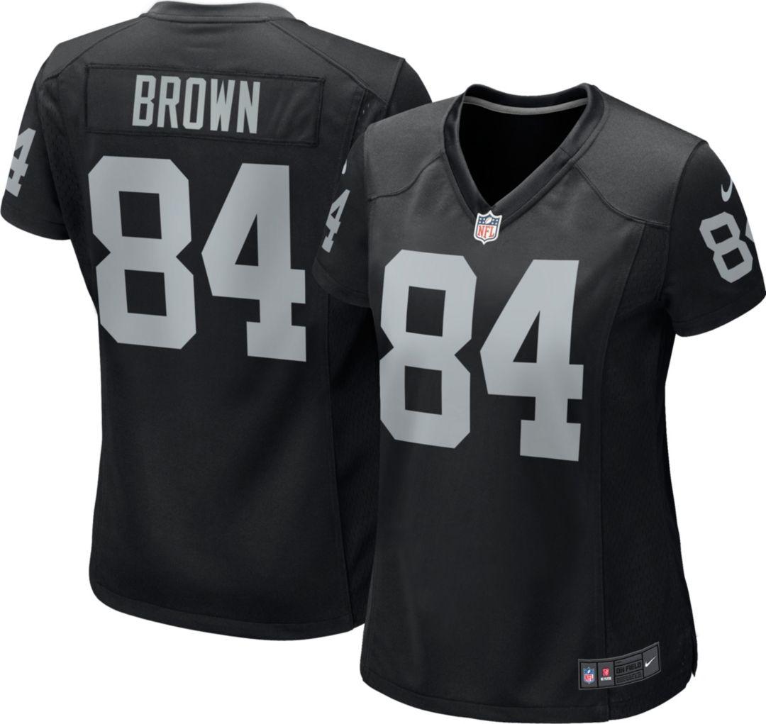 brand new 9281f 90007 Antonio Brown #84 Nike Women's Oakland Raiders Home Game ...