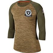 Nike Women's Salute to Service Oakland Raiders Dri-FIT Beige Raglan Shirt