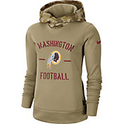 Nike Women's Salute to Service Washington Redskins Therma-FIT Beige Hoodie