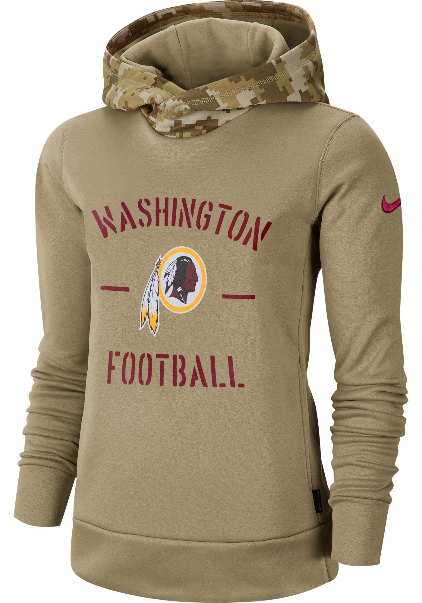 Nike Women's Salute to Service Washington Redskins Therma-FIT Beige Camo Hoodie