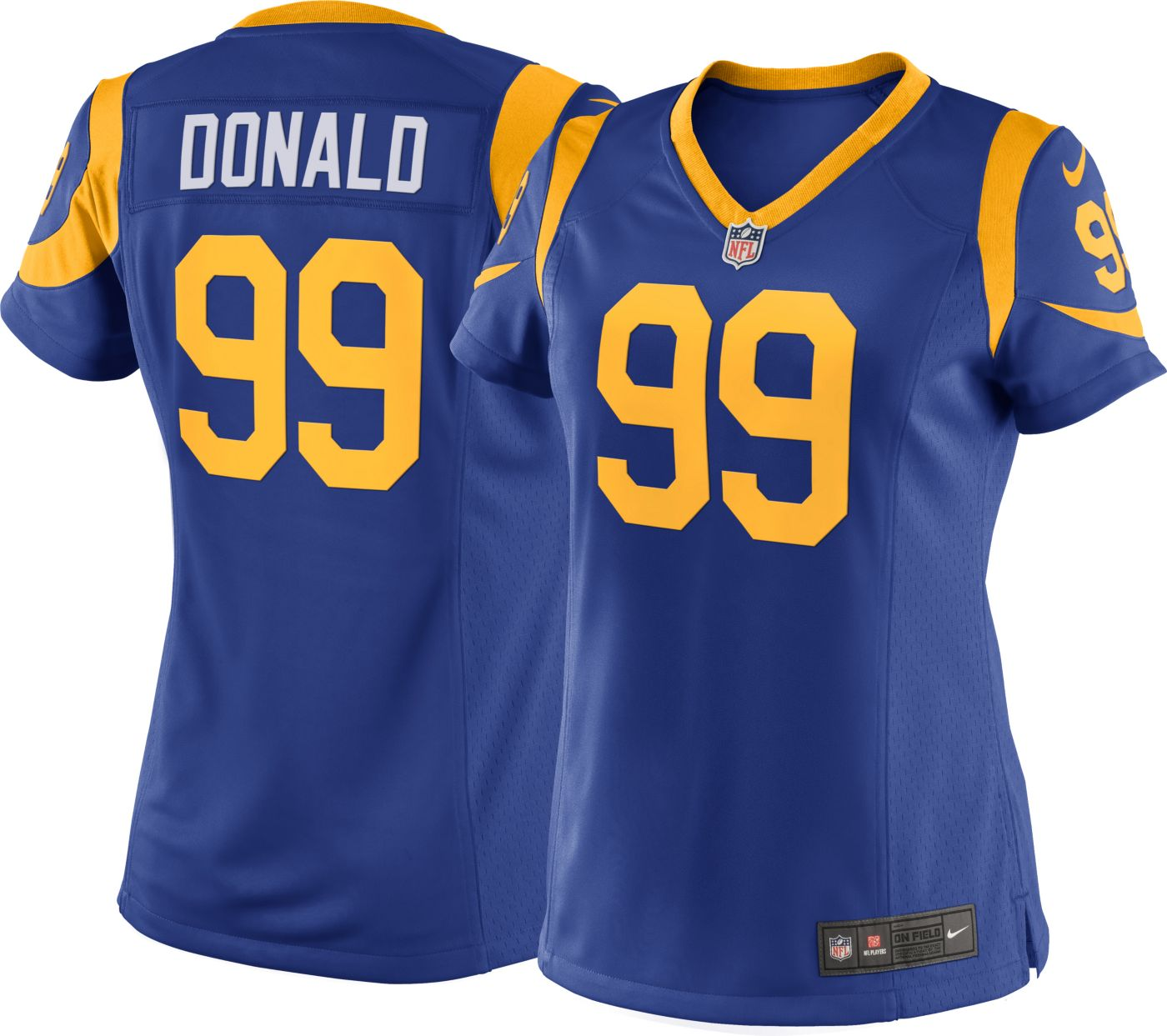 Nike Women's Alternate Game Jersey Los Angeles Rams Aaron Donald #99