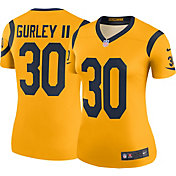 Nike Women's Color Rush Legend Gold Jersey Los Angeles Rams Todd Gurley #30