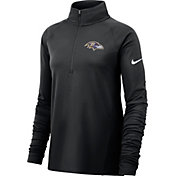 Nike Women's Baltimore Ravens Core Black Half-Zip Performance Pullover