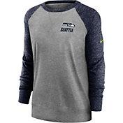 Nike Women's Seattle Seahawks Gym Vintage Grey Sweatshirt