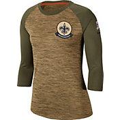 Nike Women's Salute to Service New Orleans Saints Dri-FIT Beige Raglan Shirt