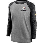 Nike Women's Pittsburgh Steelers Grey Gym Vintage Crew
