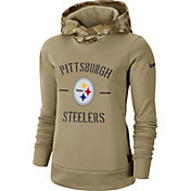 Nike Women's Salute to Service Pittsburgh Steelers Therma-FIT Beige Hoodie