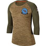Nike Women's Salute to Service Tennessee Titans Dri-FIT Beige Raglan Shirt