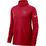 Nike Women's Houston Texans Core Red Half-Zip Performance Pullover