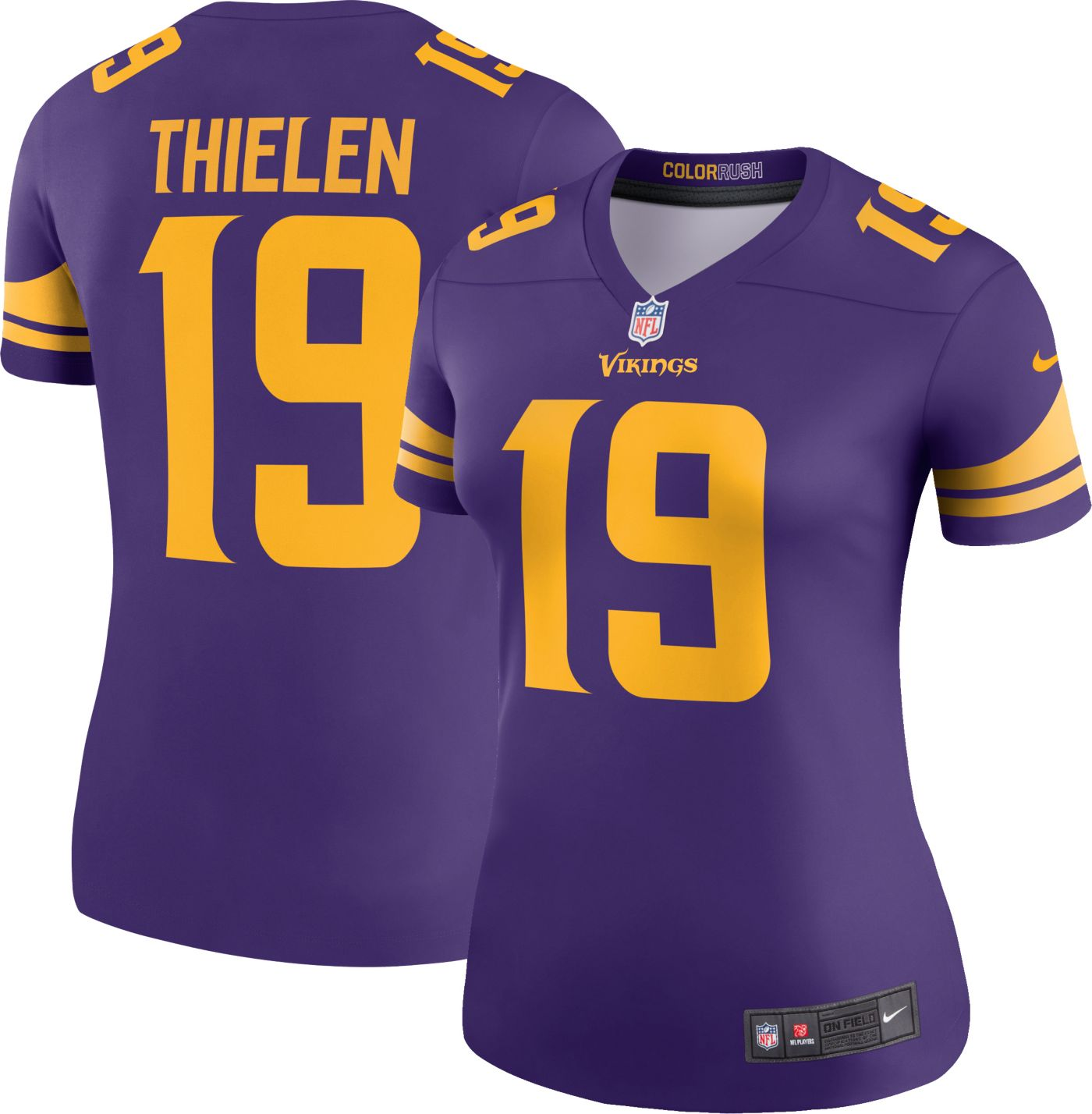 Nike Women's Color Rush Legend Jersey Minnesota Vikings Adam Thielen #19