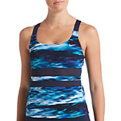 Nike Women's Blur V-Back Tankini Swimsuit Top