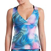Nike Women's Layered Crossback Tankini Top