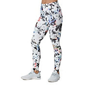 Nike One Women's Printed Washed Floral Tights in White/Gunsmoke