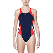 Nike Women's Poly Color Surge Fast Back One Piece Swimsuit