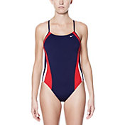 Nike Women's Poly Color Surge Cut-Out One Piece Swimsuit