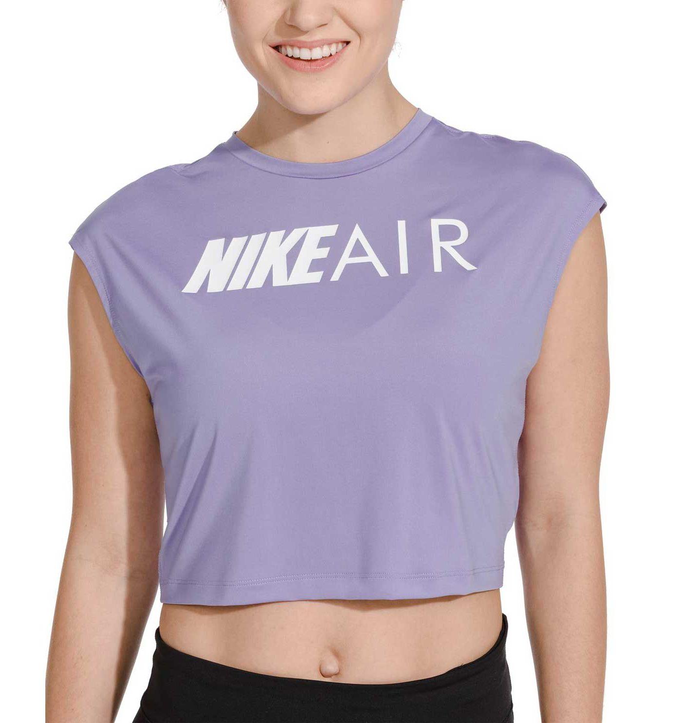 Nike Air Women's Short Sleeve Running Crop Top