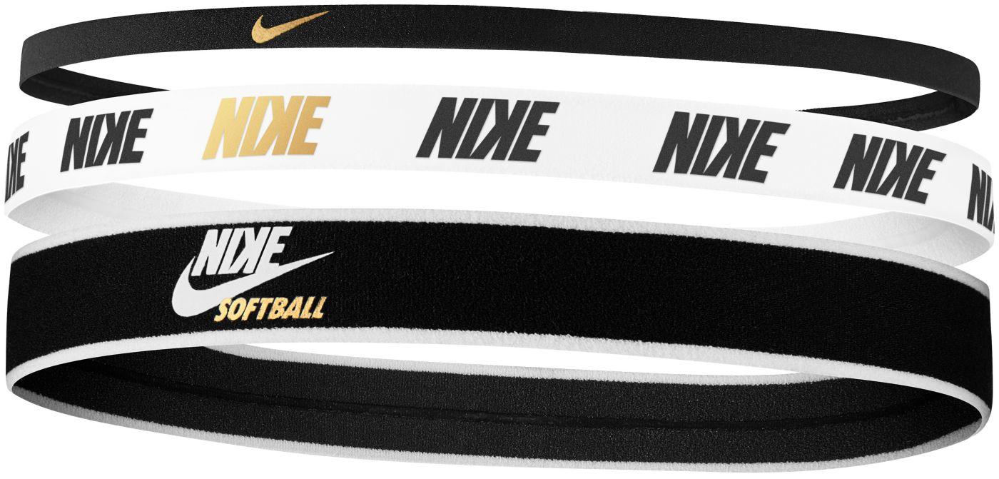 Nike Mixed Width Softball Headbands - 3 Pack